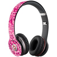 Pink Flower Power Skin  for the Beats Solo HD by skinzy.com