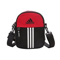 ADIDAS popular casual lady small shopping bag fashion patchwork color shoulder bag Red