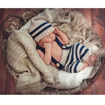 Baby Knit Hat Outfit Newborn Prop