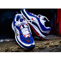 Nike Air Max 98 GunDam Stylish Trending Men Red/Blue/White Casual Sport Running Shoe Sneakers I