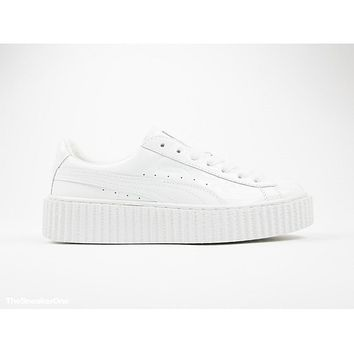 PUMA X RIHANNA BASKET CREEPERS TRIPLE WHITE