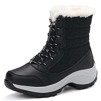 2017 Women's Warm boots thick bottom platform waterproof ankle boots
