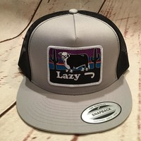 Lazy J Silver and Black Hereford and Sunset Patch Rodeo Trucker Mesh