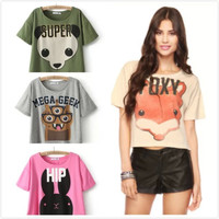 Animal Print Casual Tops