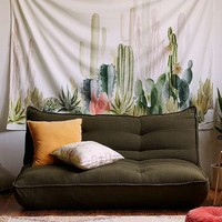 Cactus Print Landscape Tapestry | Urban Outfitters