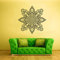 Wall Decal Vinyl  Mural Sticker Art Decor Bedroom Flowers Mandala Menhdi Curly (z1961)