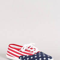 American Flag Lace Up Sneaker