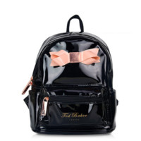 Ted Baker Women Casual School Bag Cowhide Leather Backpack