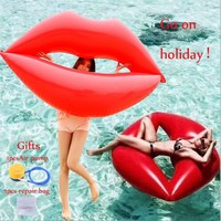 OUTERDO Water  Pool Lounger Float Lip Type Swimming Float Hammock Inflatable Rafts Swimming Pool Air Lightweight Floating Chair