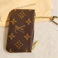 LV Louis Vuitton Fashion Plaid Print Small Bag Change purse key bag LV Printed