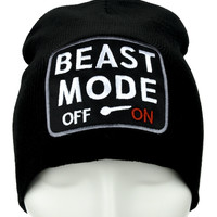 Beast Mode On Gamer Beanie Alternative Clothing Knit Cap …