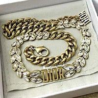 Dior New Women's Wild Wheat Ear Necklace