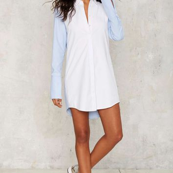 Pros and Contrasts Collared Blouse