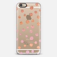CORAL AND PINKY DOTS - CRYSTAL CLEAR PHONE CASE iPhone 6 case by Nika Martinez   Casetify
