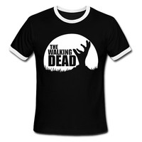 The Walking Dead T-Shirt Black or Red. Free Shipping