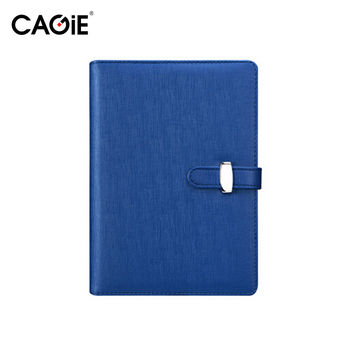 CAGIE 2017 Notebook A5 A6 Spiral Planner Agenda Pu Leather Cover Ring Binder Personal Diary Filofax School Sketchbook