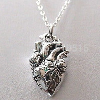 Anatomy Jewelry Anatomical Heart Pendant Necklace