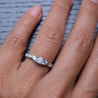 Cubic Zirconia Fashion Promise .925 Sterling Silver Ring
