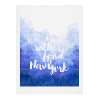 Hello Sayang I Am Rather Fond of New York Art Print