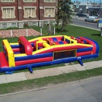 Commercial Inflatable Obstacle Course Bounce House Moonwalk Slide 7 Element CL7A