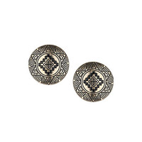 Aztec Circle Studs - Earrings - Jewelry - Accessories