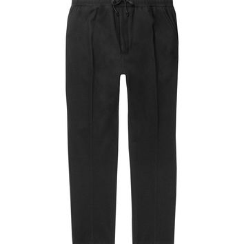 AMI - Tapered Brushed Wool-Blend Drawstring Trousers