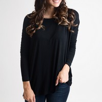 Back To Black Piko Top