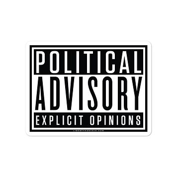 Political Advisory Explicit Opinions Sticker