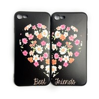 MaiYaCa Unique Luxury BFF Best friends girly soft Silicone phone case For iPhone 5 5s SE 6 6plus 7 7plus 8 8 plus X Case coque