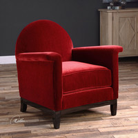 Uttermost Sheelah Cherry Red Accent Chair