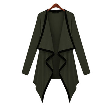 'The Audrey' Army Green Trimmed Knitted Cardigan