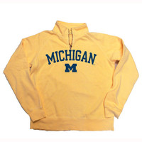 Ladies Sweatshirts/Fleece Step Ahead University of Michigan Ladies Butter 1/4 Zip Sweatshirt