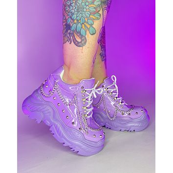 Lavender Space Candy Chain Sneakers