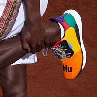 ADIDAS PW HU HOLI SOLAR BOOST Woven mesh breathable running shoes