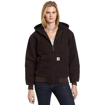 Carhartt Womens Lined Sandstone Active Jacket WJ130, 3XL