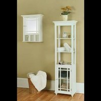 Elegant Home Fashions Neal Wall Cabinet - White : Target