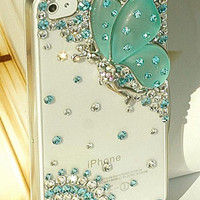 Butterfly angel iphone 5 case iphone 4 case iphone 4s case 3D bling bling iphone 5 cases iphone 5 cover