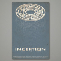 Vintage Inspired Inception Movie Poster