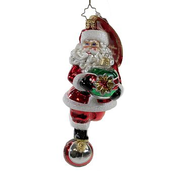 Radko Rolling Into The Holidays Ornament Santa Shiny Brite - 1020094