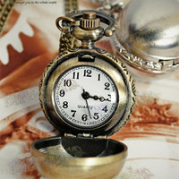 Gothic Spheroid Pocket Watch/Necklace for Man*2color