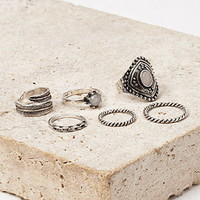 Faux Stone Midi Ring Set