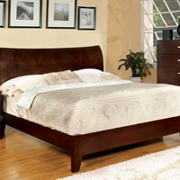 Cassia Contemporary Curved Panel Headboard Queen Bed