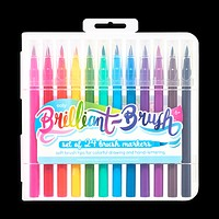 Brilliant Brush Markers - Set of 24