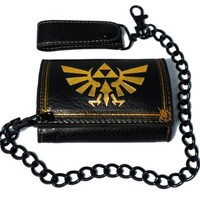 The Legend of Zelda: Twilight Princess Gold Triforce Crest Wallet with Chain