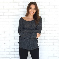 Shiver Knit Speckle Sweater