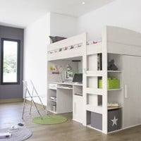 Gami Montana Loft Beds with Desk, Closet & Storage Underneath | Xiorex