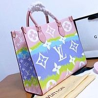 Louis Vuitton LV Tie-Dye Print Series High Quality Women Shopping Leather Handbag Tote Crossbody Satchel Shoulder Bag