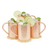Moscow Mule Gift Set of 4 Pure Copper 1/2 Pound Mugs