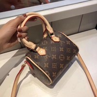 Louis Vuitton LV Leather Satchel Handbag Crossbody Shoulder Bag