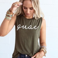 Guac Graphic Tank - Olive